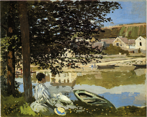 The Seine at Bennecourt; Claude Monet 1868; 81,5 x 100,7 cm; Chicago, The Art Institute