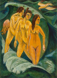 Three bathers, 1913, Ernst Ludwig Kirchner, Art Gallery of New South Wales.