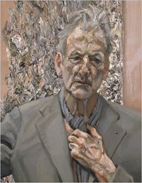 Lucian Freud, Selfportrait 'Reflection', 2002. Oil on canvas