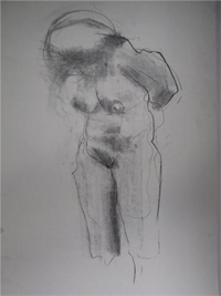 "Drawing by Ruben as an example for Ruben's Lessons/class ""Natural and Experimental Drawing"