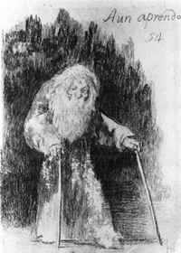 "Drawing by Goya as an example for Ruben's Lessons/class ""Natural and Experimental Drawing"
