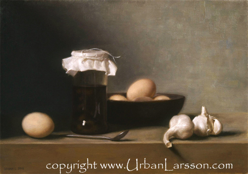 Still life, oilpaint on canvas, Urban Larsson, 2005.
