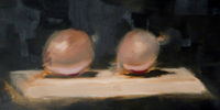 Painting onions, an excercise in flesh colours
