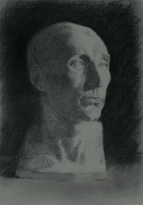 Peter Eurlings, Cast study in sight size technique, charcoal,42cmx30cm, 2008